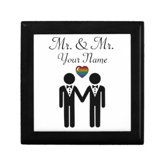 Silhouette Groom and Groom - Tall Gift Box