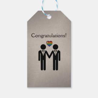 Silhouette Groom and Groom - Tall Gift Tags