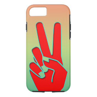 Silhouette Hand gestures iPhone 7 Case
