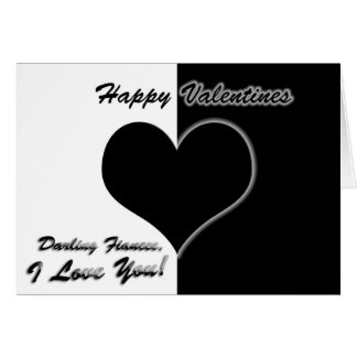 Silhouette Heart Fiancee Valentines Card