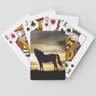 Silhouette Horse Playing Cards