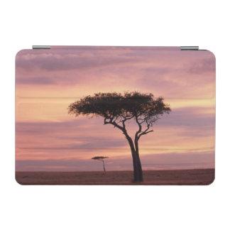 Silhouette image of acacia tree at sunrise iPad mini cover