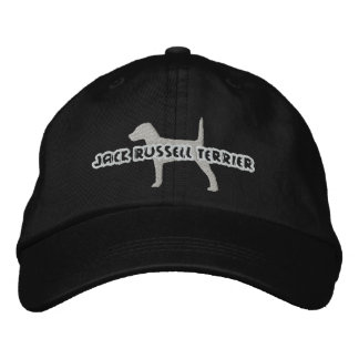 Silhouette Jack Russell Terrier Embroidered Hat
