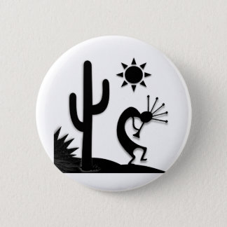 Silhouette Kokopelli 6 Cm Round Badge