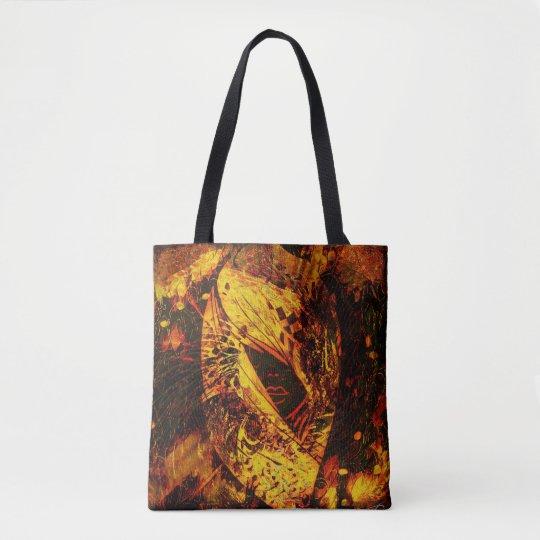 Silhouette Lady Fashion Tote Bag