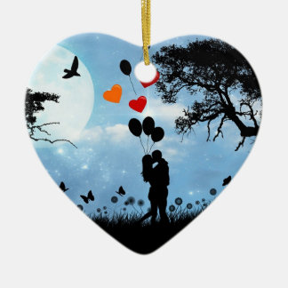 Silhouette Love Christmas Ornament