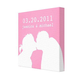 Silhouette Love (Today's Best Award) Stretched Canvas Prints
