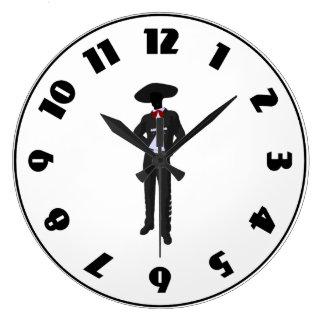 Silhouette Mariachi Clock