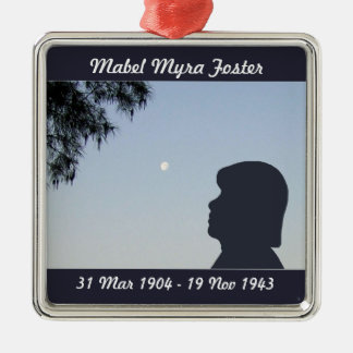 Silhouette Memorial Ornament - Older Female