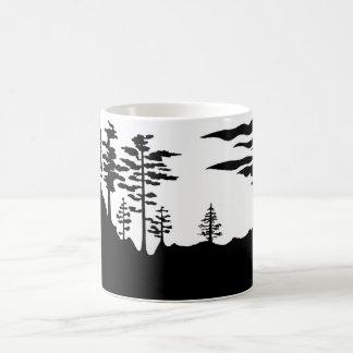 Silhouette Monochrome landscape Coffee Mug