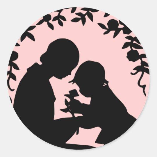 Silhouette Mother & Child Sticker