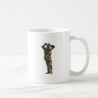 Silhouette observer wading Cher Coffee Mug