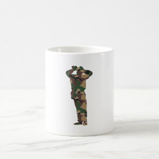 Silhouette observer wading Cher Mugs