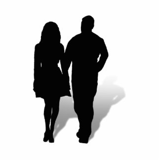 Silhouette of a Couple Acrylic Cut Outs