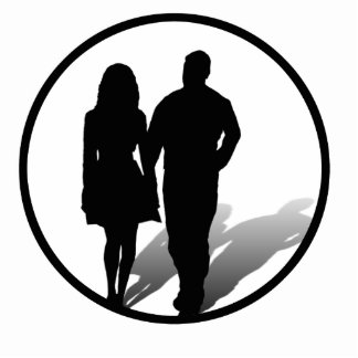 Silhouette of a Couple Standing Photo Sculpture