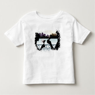 Silhouette of a couple toasting martini glasses toddler T-Shirt