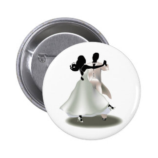 Silhouette of a Dancing Couple 6 Cm Round Badge