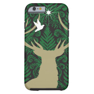 Silhouette of a deer, a dove and a star against a tough iPhone 6 case