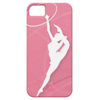 Silhouette of a female gymnast performing with a iPhone 5 cases