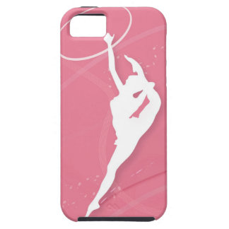 Silhouette of a female gymnast performing with a iPhone 5 case