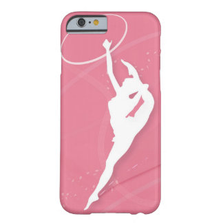 Silhouette of a female gymnast performing with a iPhone 6 case