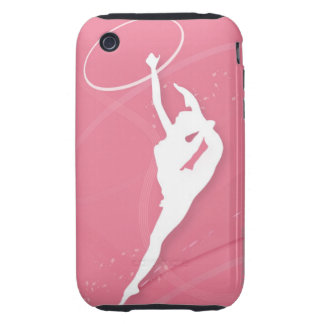 Silhouette of a female gymnast performing with a tough iPhone 3 cover