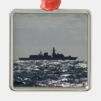Silhouette Of A Frigate Christmas Ornament
