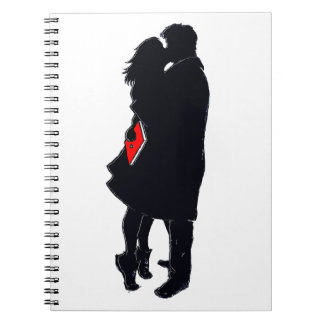 Silhouette of a Kiss Notebook/Journal Notebooks