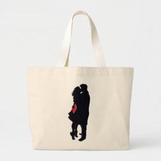 Silhouette of a Kiss Tote Bag