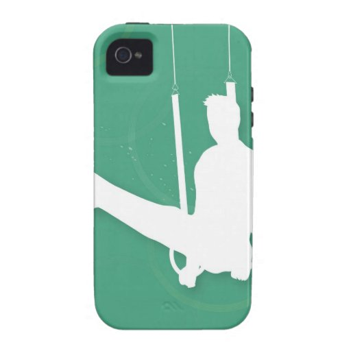 Silhouette of a man performing gymnastics Case-Mate iPhone 4 cover