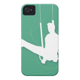 Silhouette of a man performing gymnastics iPhone 4 cover