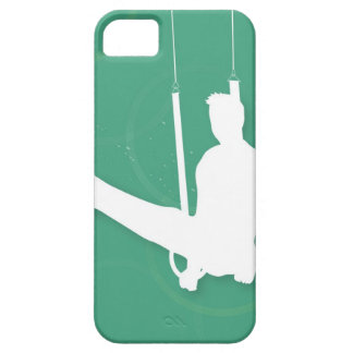 Silhouette of a man performing gymnastics iPhone 5 case