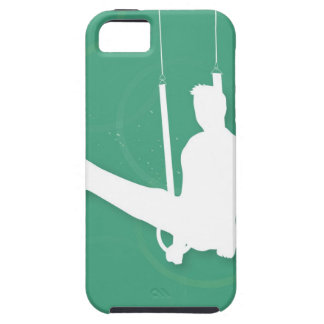 Silhouette of a man performing gymnastics iPhone 5 cases