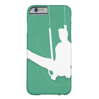 Silhouette of a man performing gymnastics iPhone 6 case