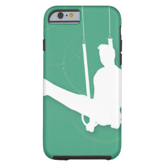 Silhouette of a man performing gymnastics tough iPhone 6 case