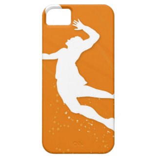 Silhouette of a man playing volleyball iPhone 5 cases