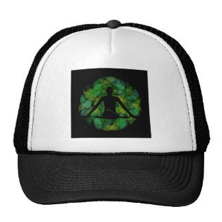 Silhouette of a meditating person cap