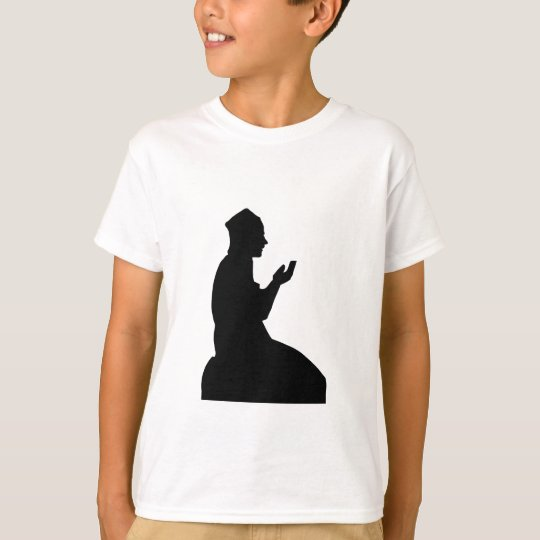 Silhouette of a Muslim praying man T-Shirt