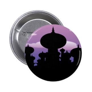 Silhouette of a temple 6 cm round badge