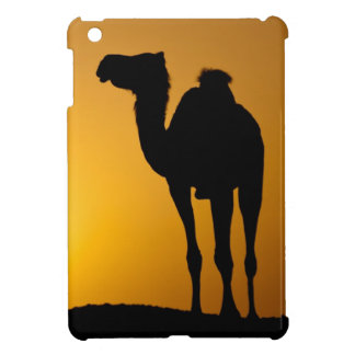 Silhouette of a wild camel at sunset iPad mini covers