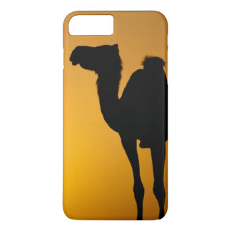 Silhouette of a wild camel at sunset iPhone 8 plus/7 plus case