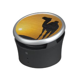Silhouette of a wild camel at sunset speaker