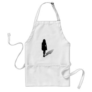 Silhouette of a Woman Adult Apron