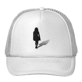 Silhouette of a Woman Trucker Hats