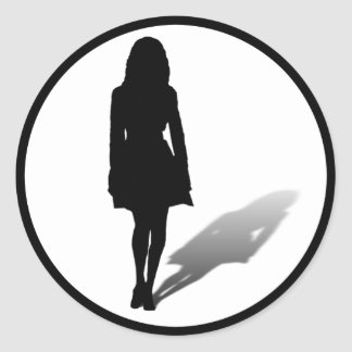 Silhouette of a Woman Stickers