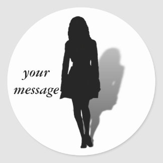 Silhouette of a Woman Sticker