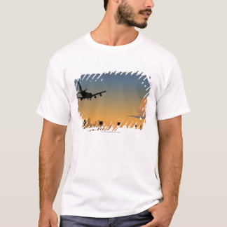 Silhouette of an airplane in flight T-Shirt