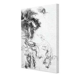 Silhouette of an Angel Canvas Print
