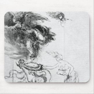 Silhouette of an Angel Mouse Pad