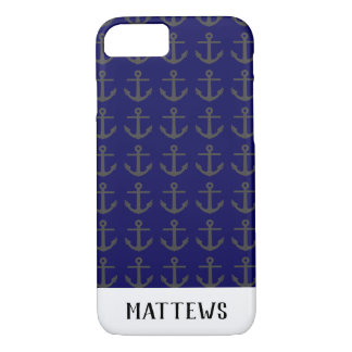 Silhouette of anchor iPhone 8/7 case